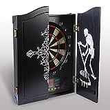 Hengda Dartmaster Dartautomat elektronische Dartscheibe E-Darts Spielcomputer, 27 Verschiedene Spiele, 243 Spielvarianten, 12 Dartpfeilen, bis zu 16 Spieler